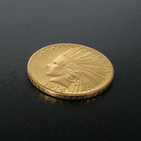 1914-D $10 Indian Head Gold Coin - Investment