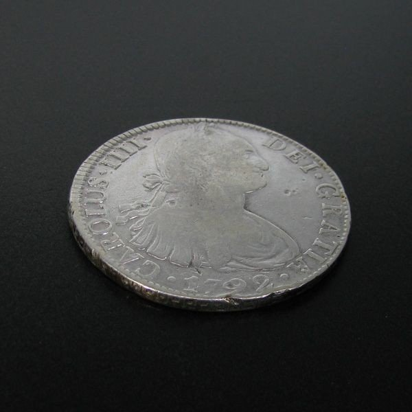 1792 Eight Reales First Silver Dollar Coin - Investment