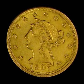 1907 U.S Gold Liberty Coronet $2.50 Coin - Investment