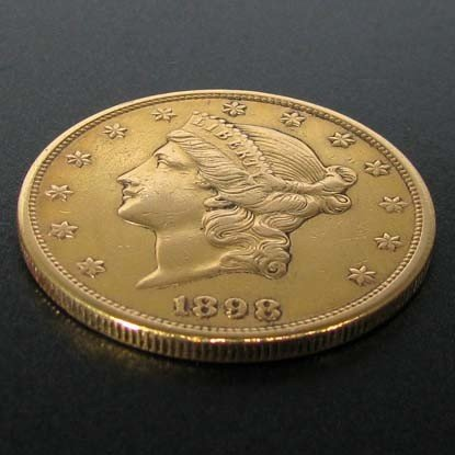 1898-S $20 U.S. Liberty Head Gold Coin - Investment