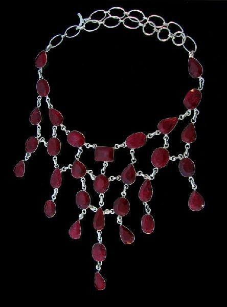 APP: 116.5k 222.02CT Ruby & Sterling Silver Necklace