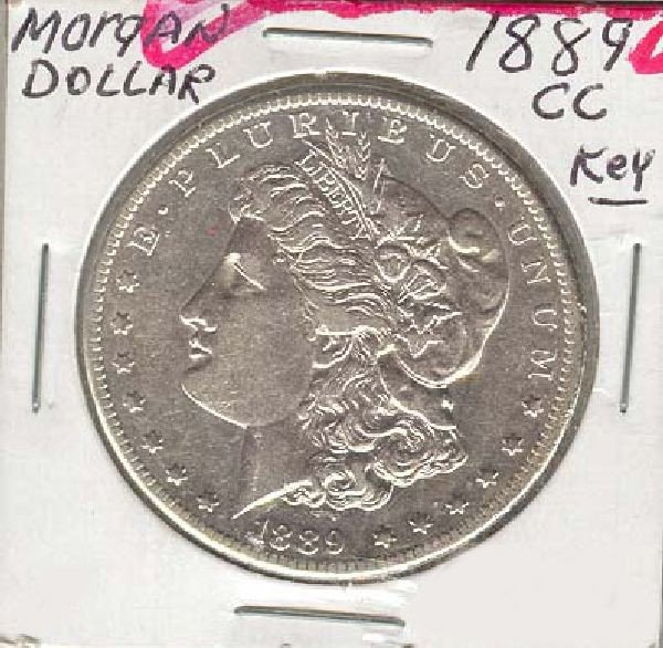1889-CC U.S. Morgan Silver Dollar  Coin
