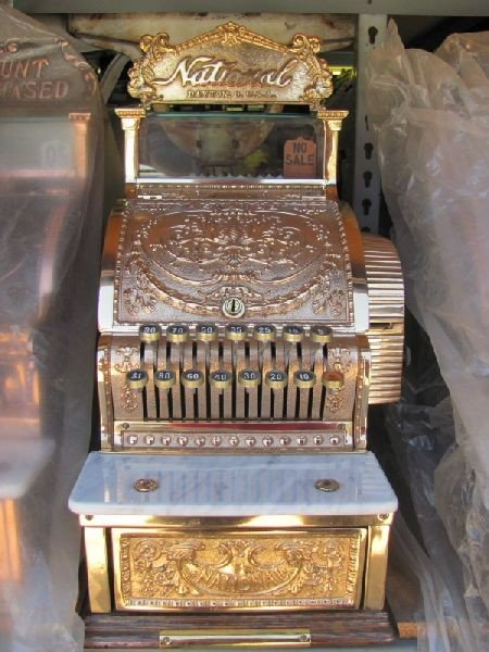 Antique Brass Cash Register National Co. c1908