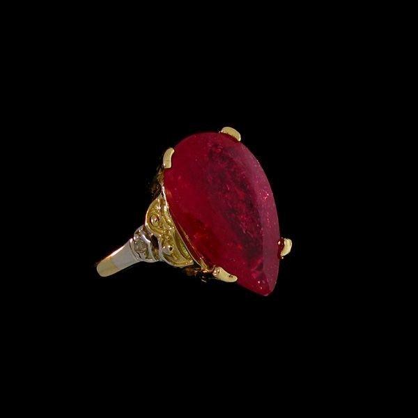 APP: 12.3k 9.57CT 14 kt. Gold, Ruby & Diamond Ring
