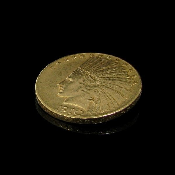 1910 $ 10 U.S. Indian Head Gold  Coin - Investment