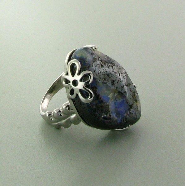 APP: 8.9k 44.52CT Boulder Opal & Sterling Silver Ring