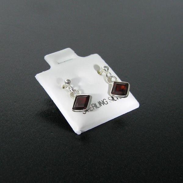 Garnet & Sterling Silver Earrings