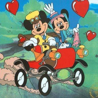 Disney Cel,Mickey & Minnie Nifty Ninety w/Certificate