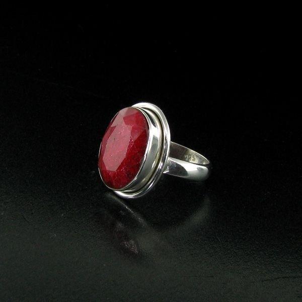 APP: 4.5k 9.32CT Ruby & Sterling Silver Ring