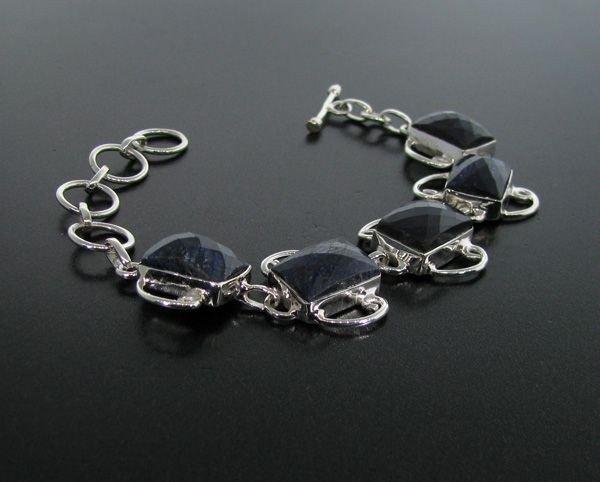 APP: 13k 40CT Blue Sapphire & Sterling Silver Bracelet