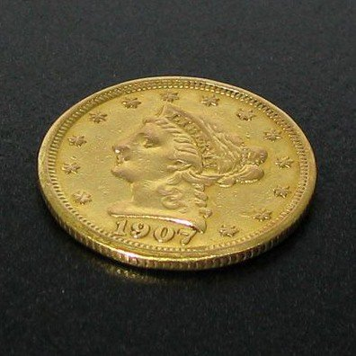 1907 $2.5 U.S Liberty Head Gold Coin - Investment