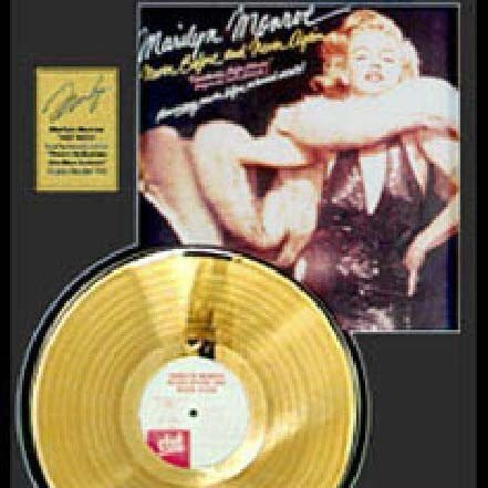 """MARILYN MONROE """"Never Before and Never Again"""" Gold LP"""