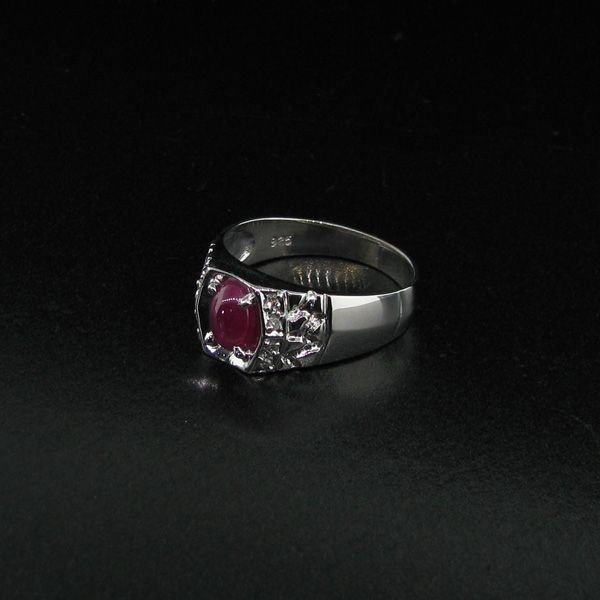 APP: 3k 0CT Ruby Platinum Sterling Silver Ring