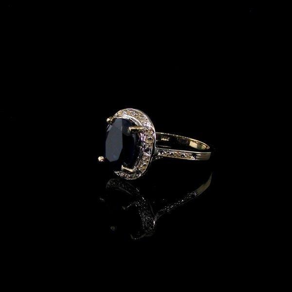 APP: 4k 14kt Gold, 5CT Blue Sapphire Ring