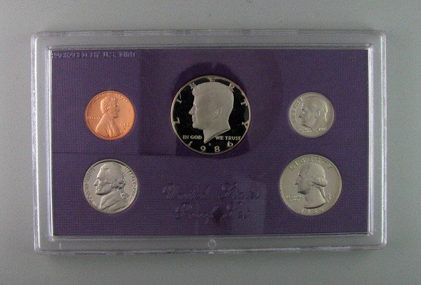 1986 U.S. Uncirculated Proof Mint  Coin - Investment