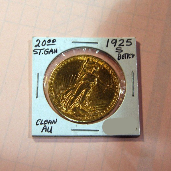 1925-S $20 U.S. Saint Gaudens Gold Coin - Investment