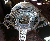 Victorian Round Wrought Iron Bird Cage Style Lazy Susan