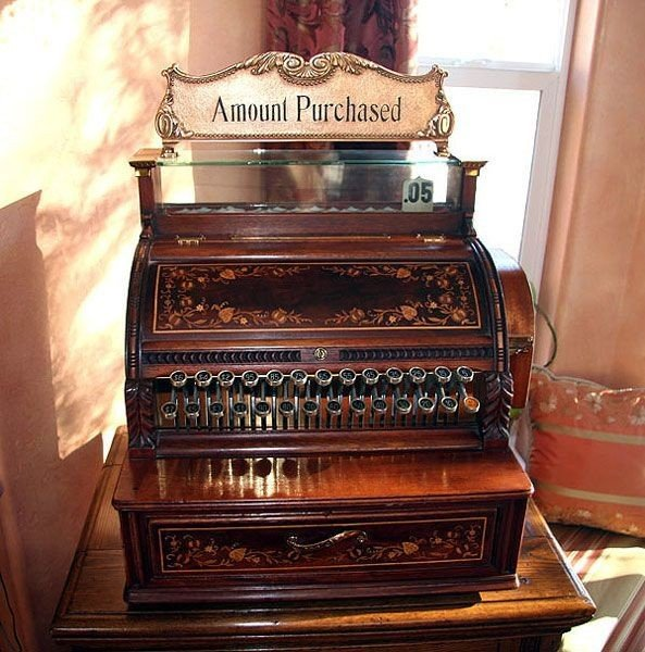 Rare Early Wood Cash Register - Fully Restored