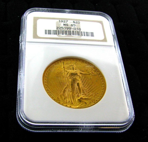 1927 $20 U.S. Saint Gauden Gold  Coin - Investment