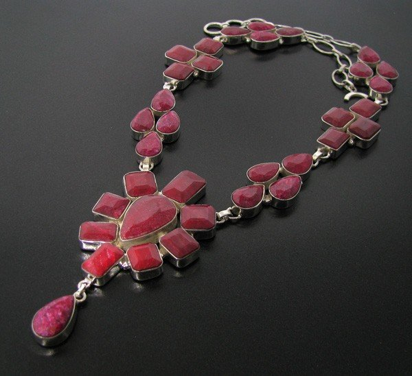 APP: 107.7k 293.83CT Ruby & Sterling Silver Necklace