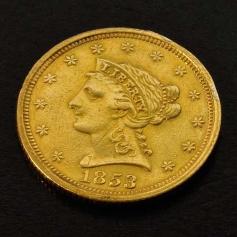 1853 $2.5 U.S Liberty Head Gold Coin - Investment