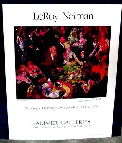 Hand Signed LeRoy Neiman: International Roulette