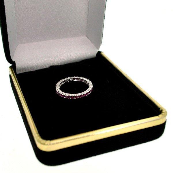 14 kt. White Gold, 35 Rubies Ring