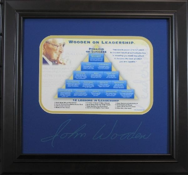 John Wooden - Leadership - Plate Signature