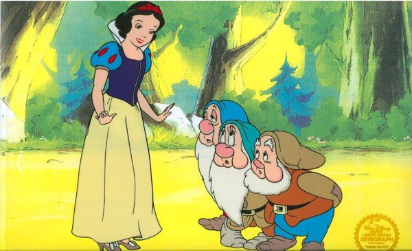 Disney Cel, Snow White & The Seven Dwarfs w/Certificate