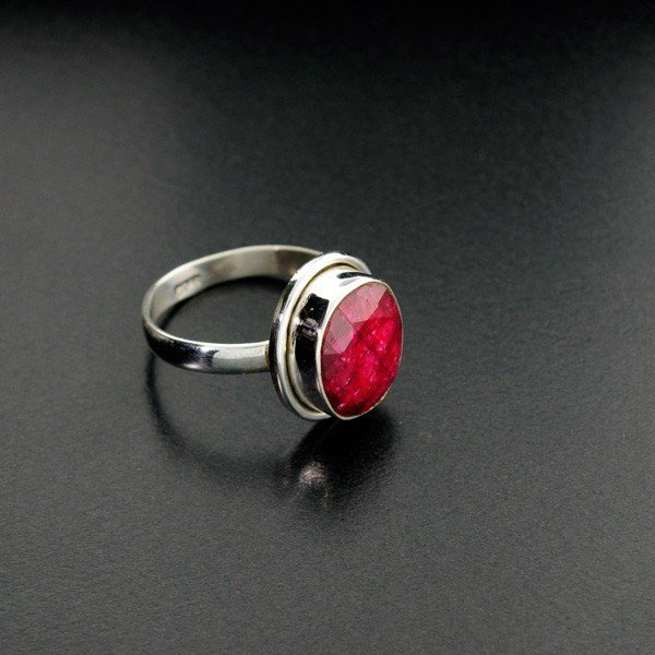 APP: 1.2k 5.25CT Ruby & Sterling Silver Ring