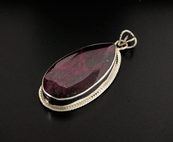 APP: 21.8k 81.34CT Ruby & Sterling Silver Pendant