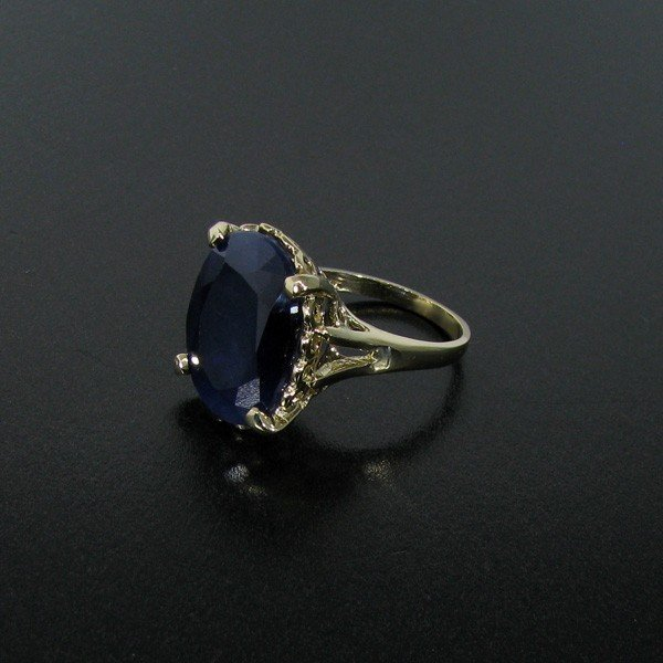 APP: 14.8k 13.04CT 14 kt. Gold, Blue Sapphire Ring