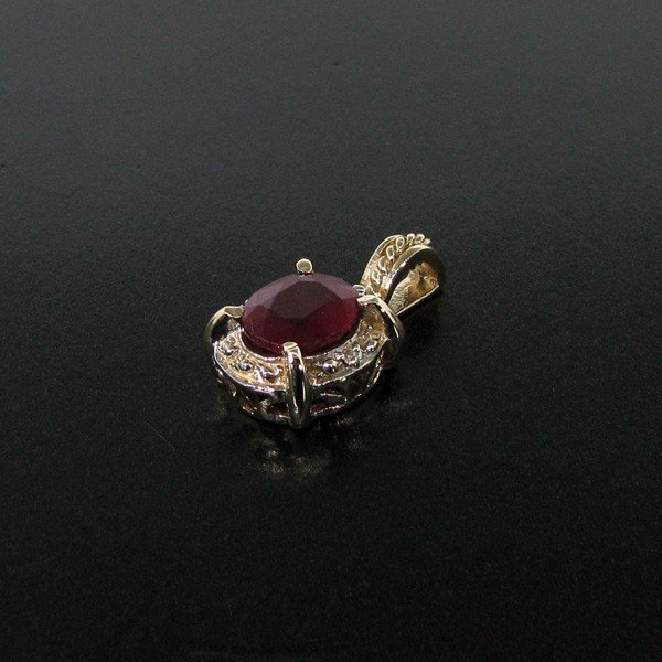 APP: 4k 14 kt. Yellow & White Gold, 3.25CT Ruby Pendant