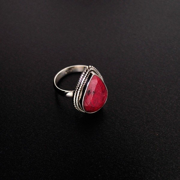 APP: 5.7k 11.92CT Ruby & Sterling Silver Ring
