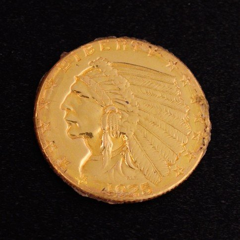 1925-S $2.5 U.S Indian Head Gold Coin - Investment