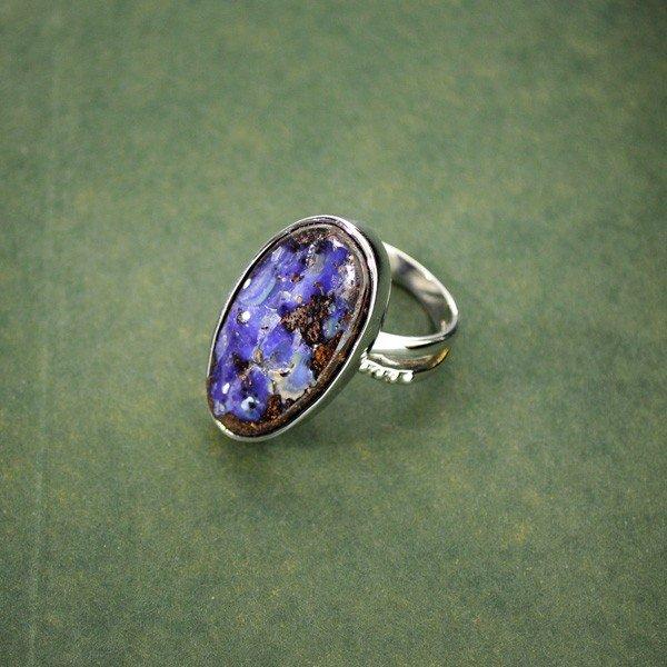 APP: 10.7k 19.86CT Boulder Opal & Sterling Silver Ring