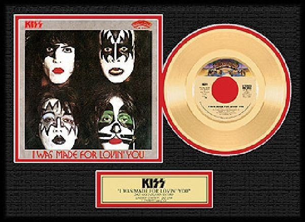 """KISS """"I Was Made for Loving You"""" Gold 45"""