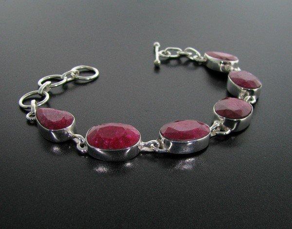 APP: 16.3k 42.44CT Ruby & Sterling Silver Bracelet