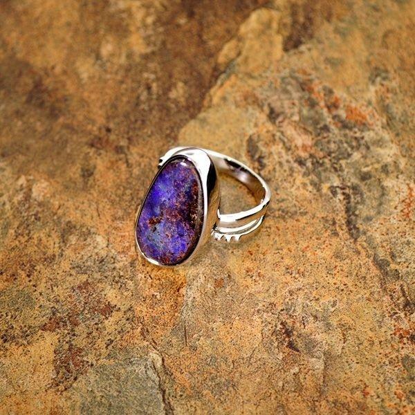 APP: 9.3k 12.70CT Boulder Opal & Sterling Silver Ring