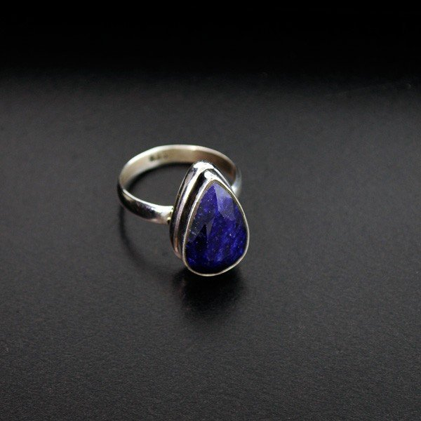 APP: 2k 11.23CT Blue Sapphire & Sterling Silver Ring