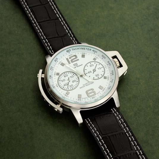 Mark Naimer Men's (Black & White) Watch