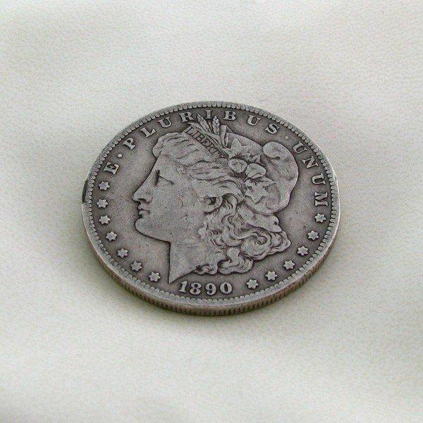 31: 1890-CC U.S. Morgan Silver Dollar Coin - Investment