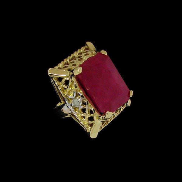 41: APP: 11.5k 9.92CT 14 kt. Gold, Ruby & Diamond Ring