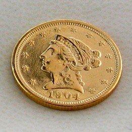 337: 1904 $2.5 U.S. Liberty Head Gold  Coin - Investmen