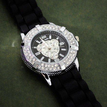 575: RJ Men's Black Rubber Band Watch