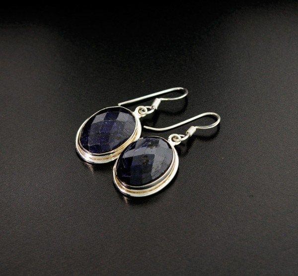 3: APP: 6k 15CTBlue Sapphire & Sterling Silver Earrings