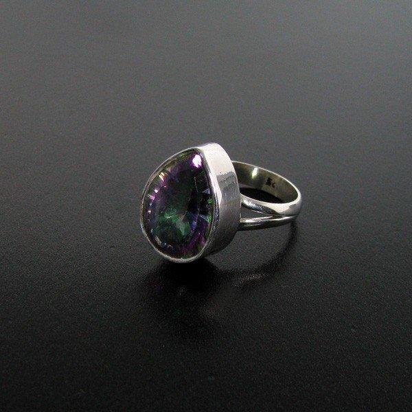 7: Mystic Topaz & Sterling Silver Ring