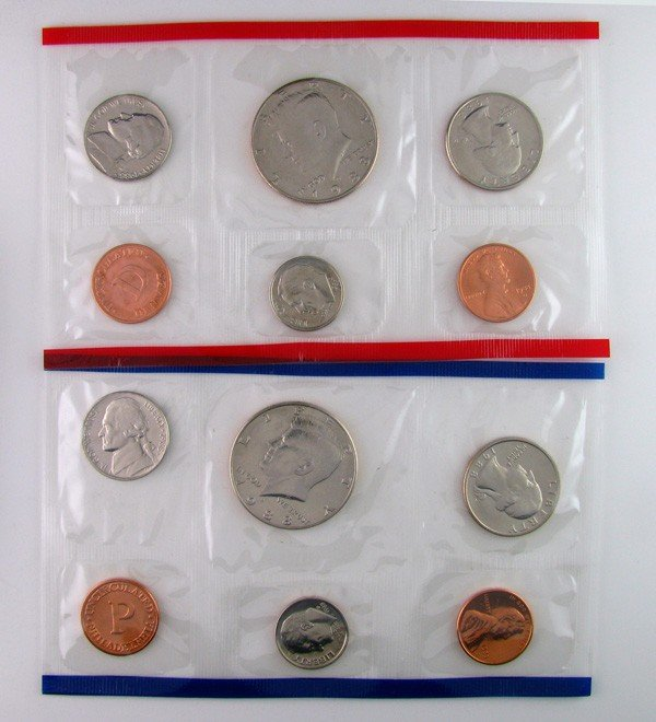 13: 1988 U.S Uncirculated Marked D&P Mint Coins