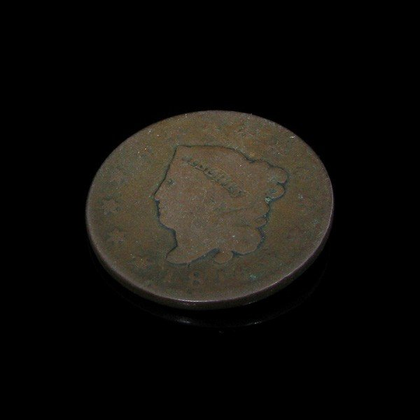 33: 1816 Busted Liberty One Cent Coin - Investment