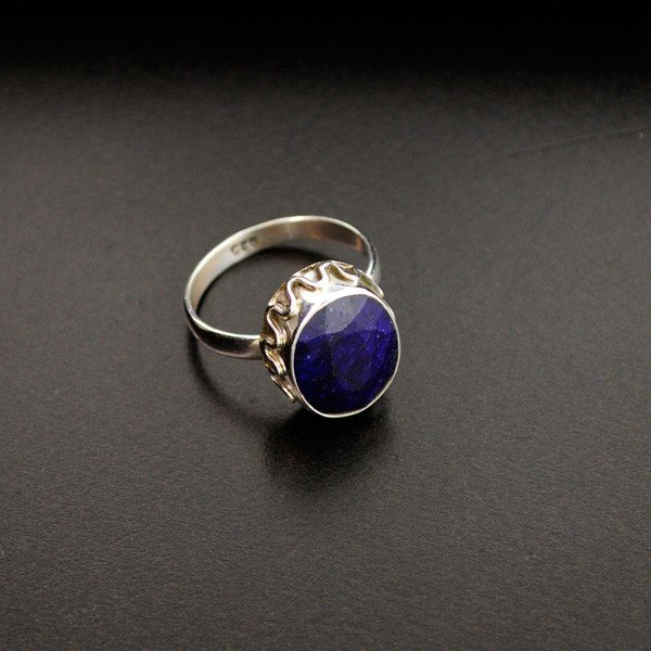 APP: 1.2k 6.07CT Blue Sapphire & Sterling Silver Ring